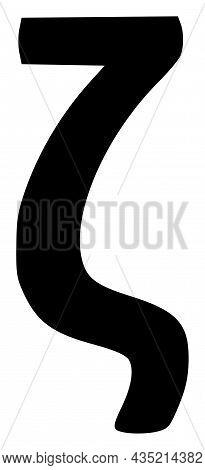 Zeta Greek Lowercase Symbol Icon With Flat Style. Isolated Vector Zeta Greek Lowercase Symbol Icon I