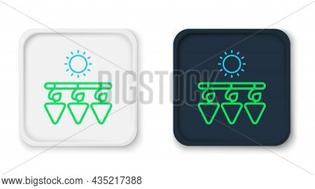 Line Drying Grapes Icon Isolated On White Background. Dried Grapes. Colorful Outline Concept. Vector