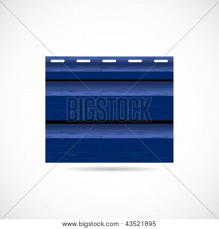 Siding Texture Sample Small Icon Blue Color