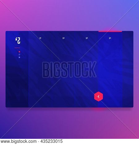 Abstract Background Website Landing Page Template Design For Business Interface. Banner For Website,