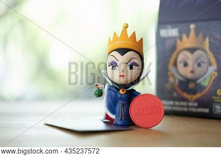Bangkok, Thailand - October 6, 2021 : Figurine Of The Evil Queen Antagonist Of Disney's Animated Fea