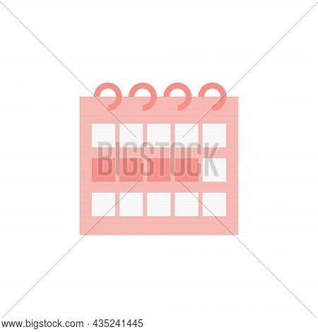 Calendar With Marked Fertile Days Of The Menstrual Cycle. Birth Control Methods. Fertility Awareness