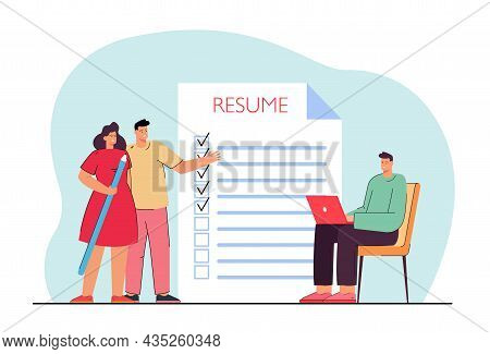 Search For Candidate For Open Company Position. Applicant Filling Resume For Vacancy. Cv Preparing F