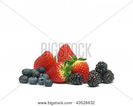 Blueberries, Strawberries And Blackberries