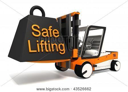 Safe Lifting Sign Black Weight