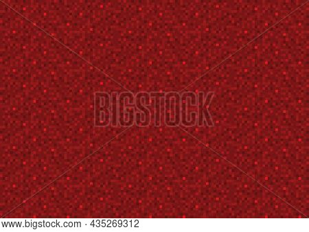 Red Pixel Seamless Background - Colored Noise Illustration As Abstract Grainy Pattern In Red Tones,