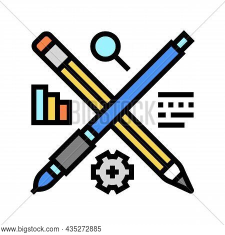 Content Strategy Color Icon Vector. Content Strategy Sign. Isolated Symbol Illustration