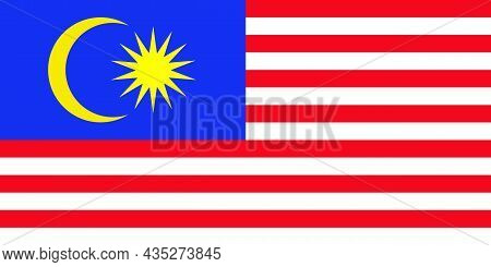 The National Flag Of Malaysia Is A Country In Southeast Asia In The South China Sea