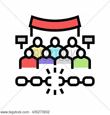 Freedom Of Assembly Color Icon Vector. Freedom Of Assembly Sign. Isolated Symbol Illustration