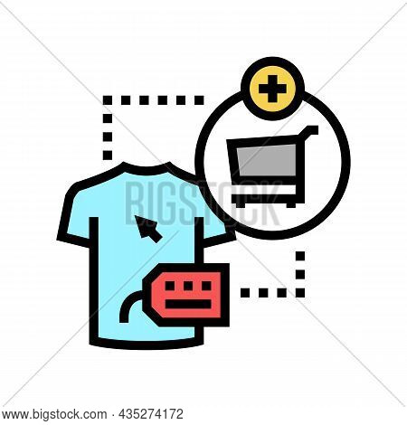Add To Cart Color Icon Vector. Add To Cart Sign. Isolated Symbol Illustration