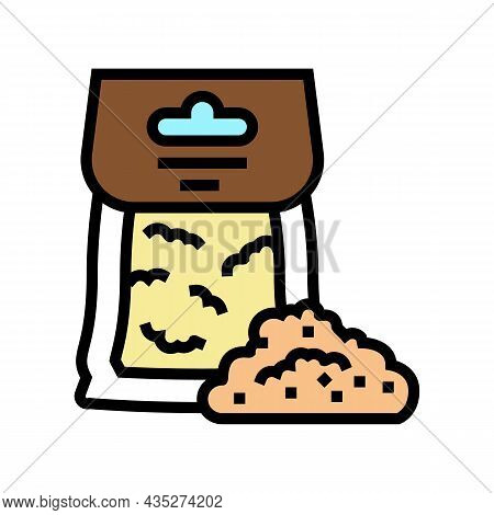 Rye Flour Bag Color Icon Vector. Rye Flour Bag Sign. Isolated Symbol Illustration
