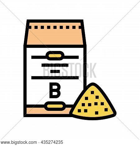Barley Flour Bag Color Icon Vector. Barley Flour Bag Sign. Isolated Symbol Illustration