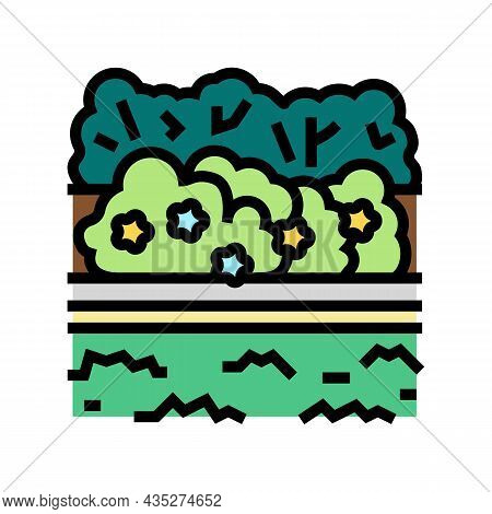 Landscape Install Color Icon Vector. Landscape Install Sign. Isolated Symbol Illustration