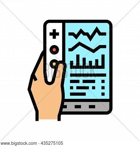 Remote Health Care Color Icon Vector. Remote Health Care Sign. Isolated Symbol Illustration