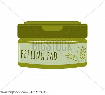 Peeling Pads. Skin Care. Morning Routine. Cleansing And Moisturizing. Removing Makeup. Hand Drawn Be