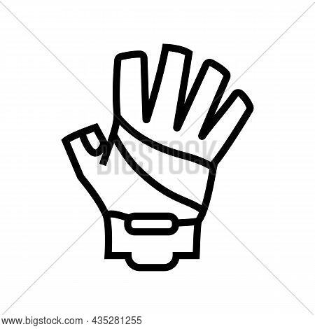 Gloves Cyclist Accessory Line Icon Vector. Gloves Cyclist Accessory Sign. Isolated Contour Symbol Bl