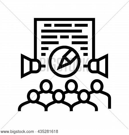 Public Relations Copywriting Line Icon Vector. Public Relations Copywriting Sign. Isolated Contour S