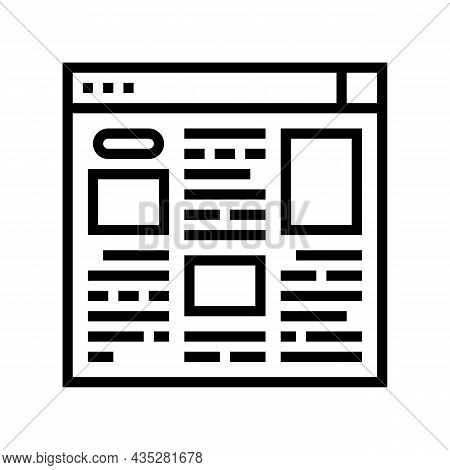 Article Web Information Line Icon Vector. Article Web Information Sign. Isolated Contour Symbol Blac