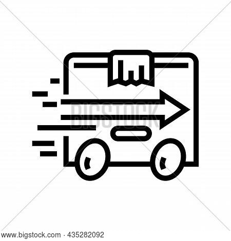 Express Delivery Line Icon Vector. Express Delivery Sign. Isolated Contour Symbol Black Illustration