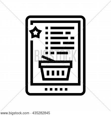 Wish List Line Icon Vector. Wish List Sign. Isolated Contour Symbol Black Illustration