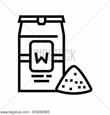 Wheat Flour Package Line Icon Vector. Wheat Flour Package Sign. Isolated Contour Symbol Black Illust