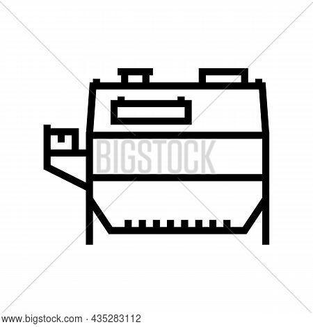 Wheat Grain Cleaning Machine Line Icon Vector. Wheat Grain Cleaning Machine Sign. Isolated Contour S