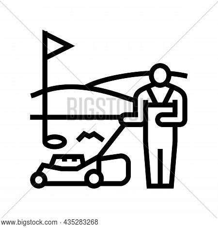 Sports Turf Services Line Icon Vector. Sports Turf Services Sign. Isolated Contour Symbol Black Illu