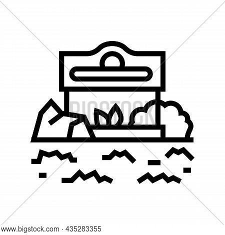 Commercial Landscape Line Icon Vector. Commercial Landscape Sign. Isolated Contour Symbol Black Illu