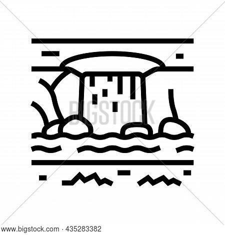 Water Features Line Icon Vector. Water Features Sign. Isolated Contour Symbol Black Illustration