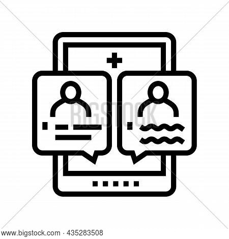 Second Opinion Line Icon Vector. Second Opinion Sign. Isolated Contour Symbol Black Illustration