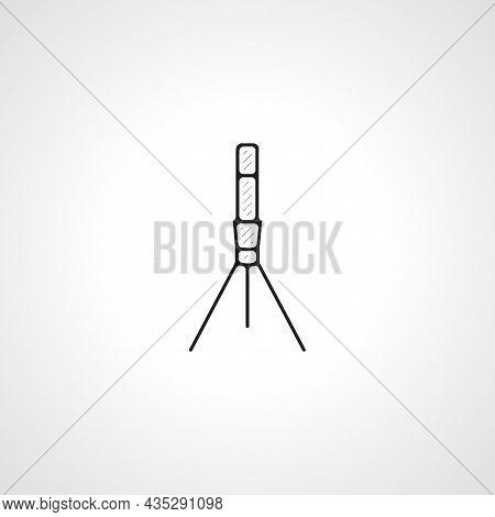 Camera Tripod Vector Thin Line Icon. Tripod Thin Line Icon.