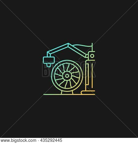 3d Printing For Aerospace Industry Gradient Vector Icon For Dark Theme. Achieve High Aircraft Perfor
