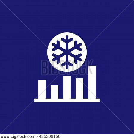 Freeze Level Control Icon With Graph, Vector