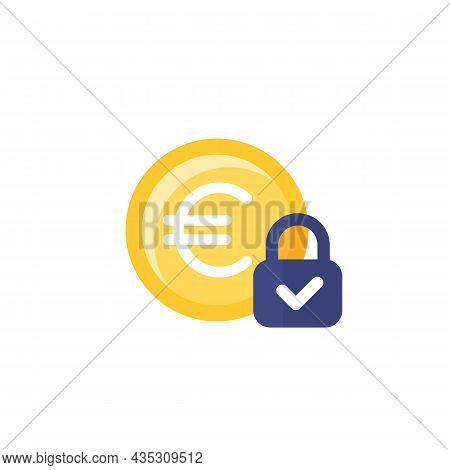 Fixed Cost Icon With Euro On White