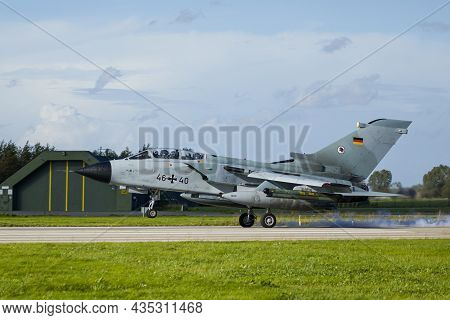 Leeuwarden Netherlands Oct. 4 2021 Weapon Instructor Course German Tornado Landing