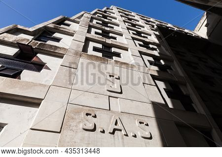 Santo Domingo, Dominican Republic - January 11, 2017: Walls Of The Columbus Lighthouse Memorial. Con