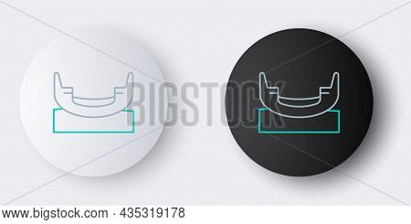 Line Boat Swing Icon Isolated On Grey Background. Childrens Entertainment Playground. Attraction Rid