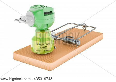 Fumigator Inside Mousetrap, 3d Rendering Isolated On White Background