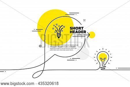 Inspiration Icon. Continuous Line Idea Chat Bubble Banner. Creativity Pencil Sign. Graphic Art Symbo