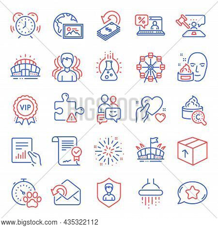 Business Icons Set. Included Icon As Web Photo, Face Cream, Ferris Wheel Signs. Approved Agreement,