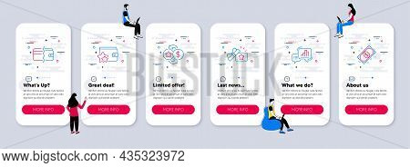 Vector Set Of Finance Icons Related To Loyalty Gift, Loyalty Program And Graph Chart Icons. Ui Phone