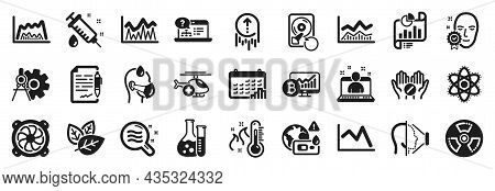 Set Of Science Icons, Such As Cogwheel Dividers, Face Id, Recovery Hdd Icons. Medical Syringe, Swipe