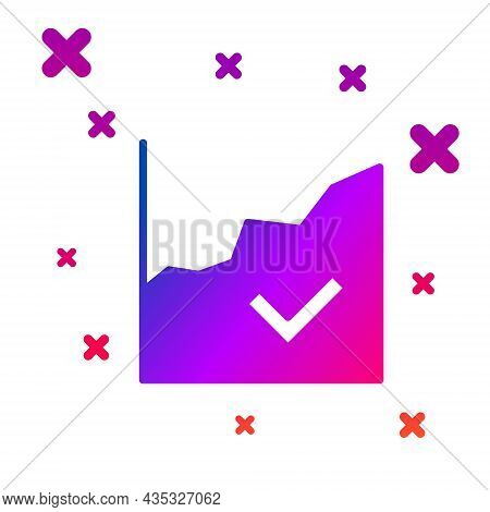 Color Financial Growth Increase Icon Isolated On White Background. Increasing Revenue. Gradient Rand