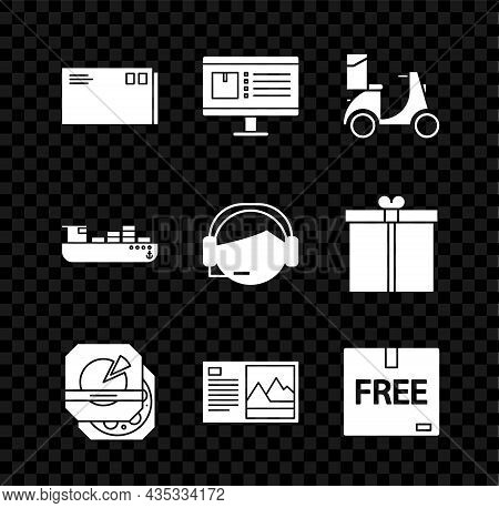 Set Envelope, Computer Monitor With App Delivery Tracking, Scooter, Pizza Cardboard Box, Postcard, C