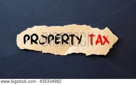 Paper Filing With Conceptual Taxed Text. Business Concept