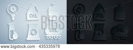 Set Oil And Gas Industrial Factory Building, Propane Tank, Petrol Test Tube, Railway Cistern, Canist