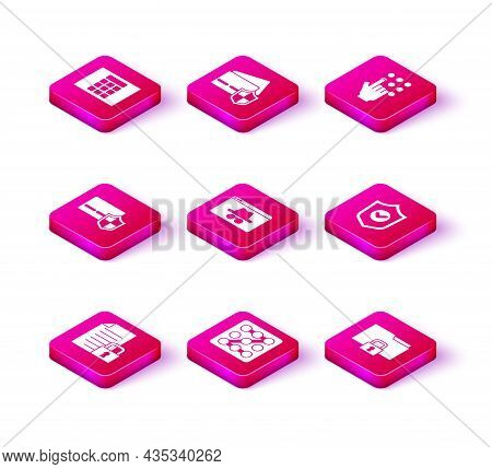Set Document And Lock, Graphic Password Protection, Credit Card With Shield, Browser Incognito Windo