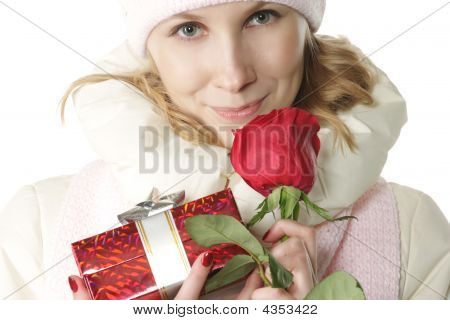 Winter Girl In Valentines Day