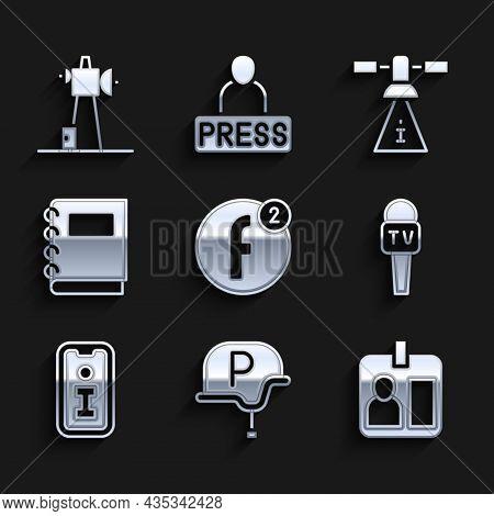 Set Create Account, War Journalist, Journalist Id Card, Microphone, Information, Notebook, Satellite