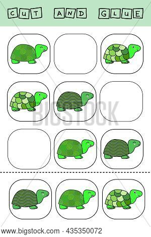 Sudoku For Kids With Funny Forest Animals Turtles. Children's Puzzles. Preschool Worksheet, Kids Act